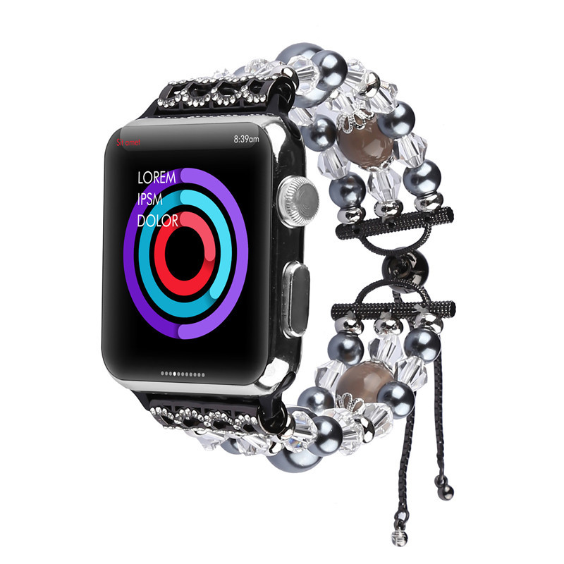 Suitable For Apple APPLE Watch Strap Jewelry Agate Retractable Buckle Watch Strap Cool Fashion Factory Direct Selling