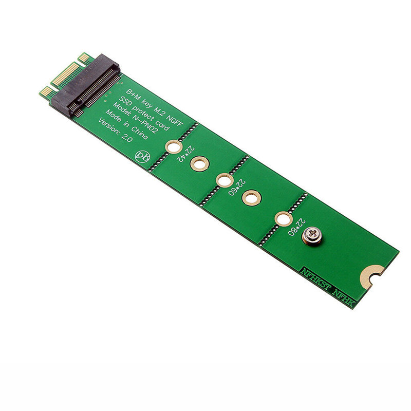 M.2 Ngff B Key Ssd Slot To B+M Key Adapter Protect Card Extension Test Card
