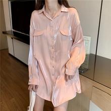 Spring Autumn Girls Vintage Reflecting Chiffon Blouses Shirt