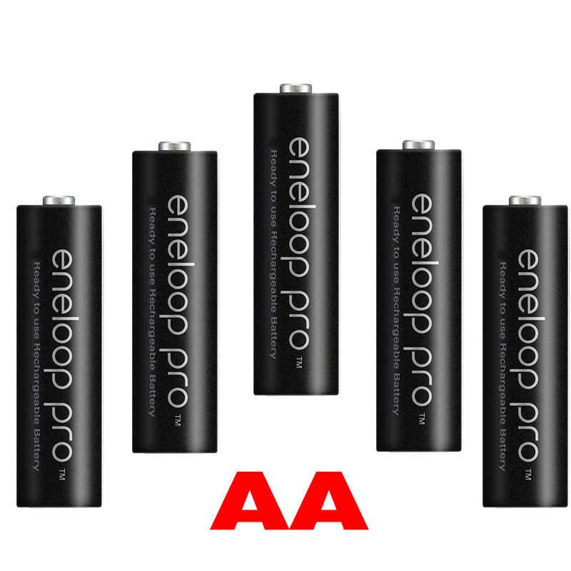 100% original para eneloop AA batería 2500 MAH 1,2 V Ni-MH linterna juguete de la Cámara AA batería precargada + cargador 1,2 V AA