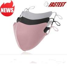 12 pièces 3D glace soie coton Earloop bouche masque été Anti poussière coupe-vent masque unisexe lavable réutilisable bouche respirateur