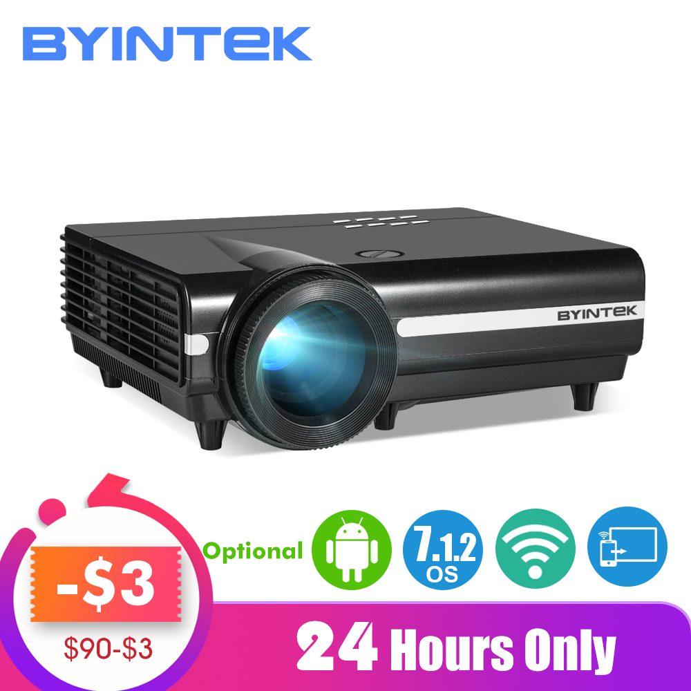 Byintek Maan BT96Plus Android Wifi Smart Video 1080P Led Projector Voor Full Hd Home Theater Ondersteuning 4K Video Voor Netflix