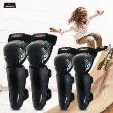 WOSAWE-rodilleras de motocicleta para niños, Protector de rodilla para Moto de montaña, equipo de protección para esquí, rodilleras para Moto