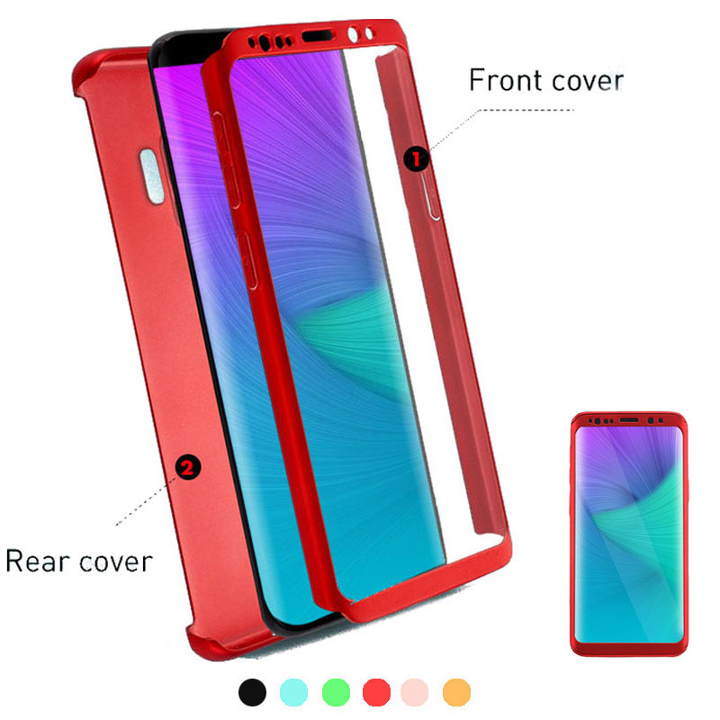 360 Full Protective Mobile Phone Case For Samsung Galaxy Note Candy Cover A50 S10 S9 S8 Plus Armored Play Color Film Cell|Phone Case & Covers| - AliExpress