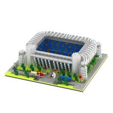 hot LegoINGlys city Street view Real Madrid football club mini micro diamond building block Santiago Bernabeu Stadium brick toys