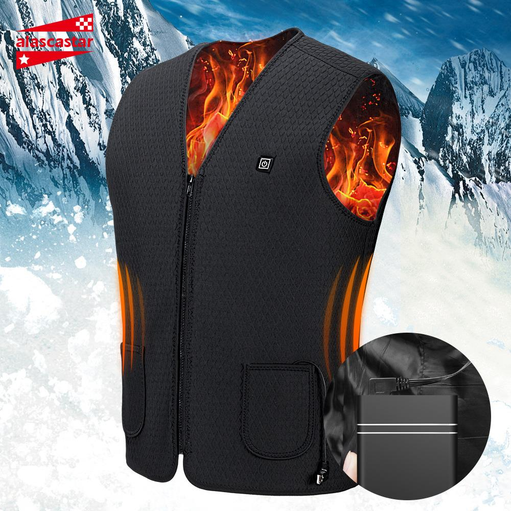 2019 New Motorcycle Jacket USB Infrared Electric Heating Men Vest Waistcoat Thermal Clothing Winter Riding Jacket Chaqueta Moto