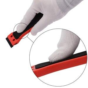 Image 5 - Ehdis segurado raspador de barbear vinil carro embrulho rodo com 10 pçs lâmina de plástico matiz da janela decalque adesivo removedor ferramenta limpeza