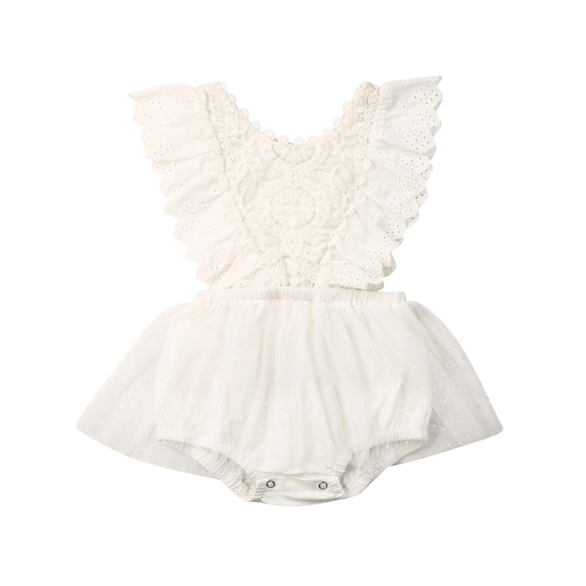 Summer Princess Girl Clothes Newborn Baby Girls Clothes Lace Romper Bodysuit Tutu Dress Outfits 0-24 Months