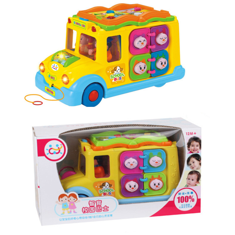 Hot Selling Toy 796 Intellectual Campus Bus Crawling  Yi Zhi Che Children Learn To Climb  Early Education 1-2-3-Year-Old 12-18 M