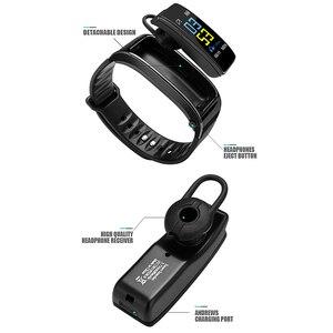 Image 5 - Smartwatch y3 plus com bluetooth, pulseira fitness rastreadora de saúde, fone de ouvido música