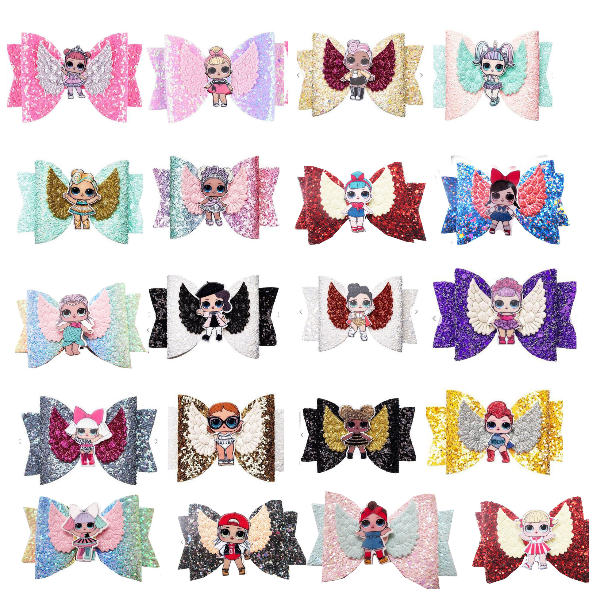New Girls Cute Cartoon LOL Surprise Dolls  Hairpins Children Lovely Hair Clips Barrettes Headband Kids Lol Doll Hair Accessories