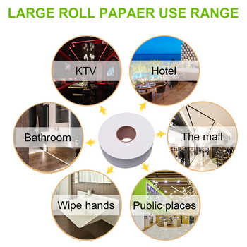 3pcs 900+sheets 580g/Roll Soft Toilet Paper Soft Toilet Tissue Home Bath Toilet Roll Paper Towels Water Absorption