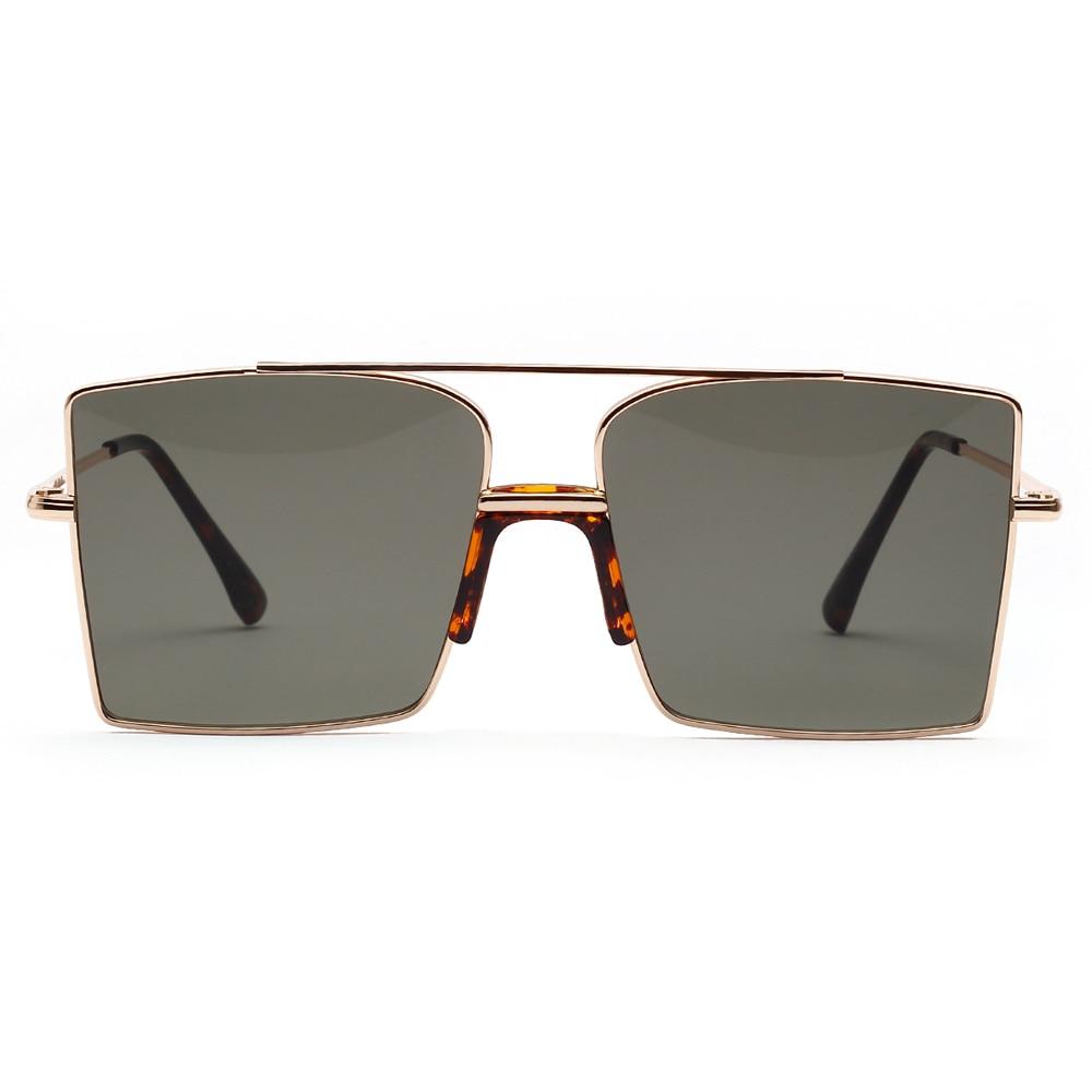 OVERSIZED VINTAGE RETRO Style SUN GLASSES Square Black Frame Green /& Yellow Lens