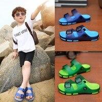Zapatillas de verano para niños, zapatos de playa chicas, sandalias de casa para niños, zapatillas antideslizantes de baño, parte superior ajustable, 2021