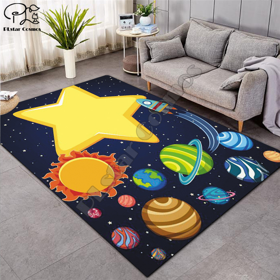 Crawling Mat Fantasy Fairy Cartoon Kids Play Mat Board Game Mat Map Large Carpet For Living Room Cartoon Planet Rugs Maze -2