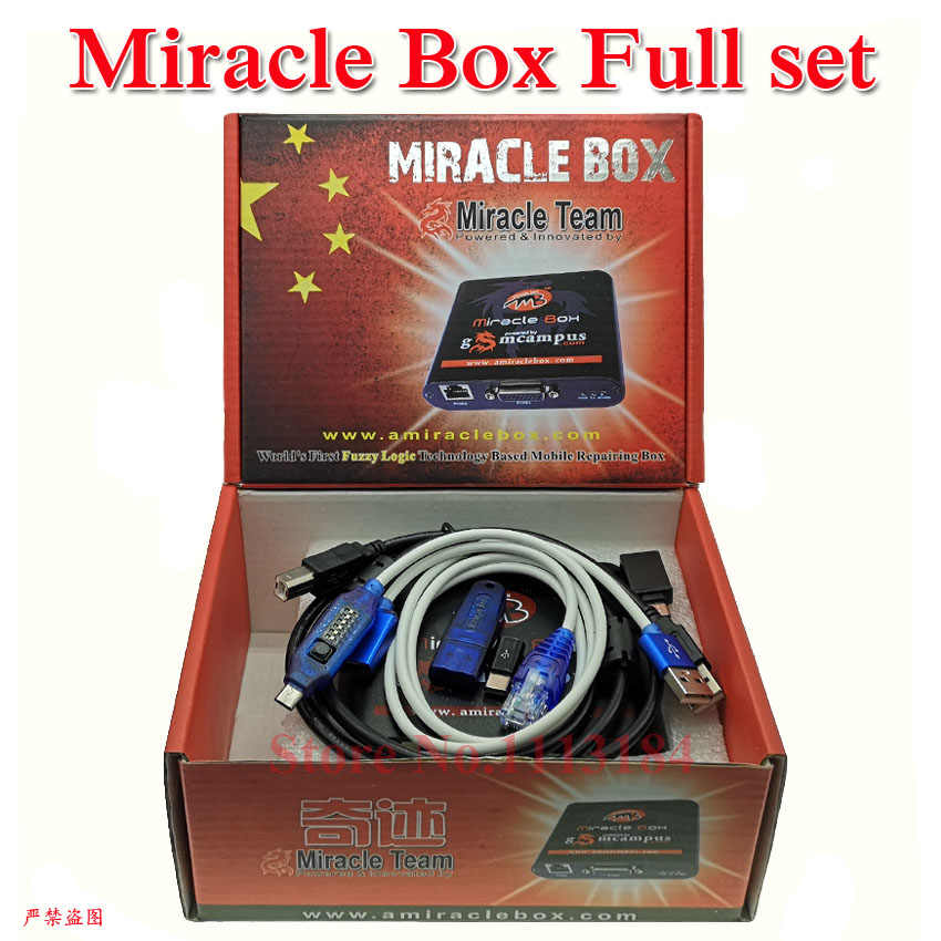 100% ursprüngliche Miracle Box Full set Miracle box + Wunder Dongle + UMF Alle Boot kabel