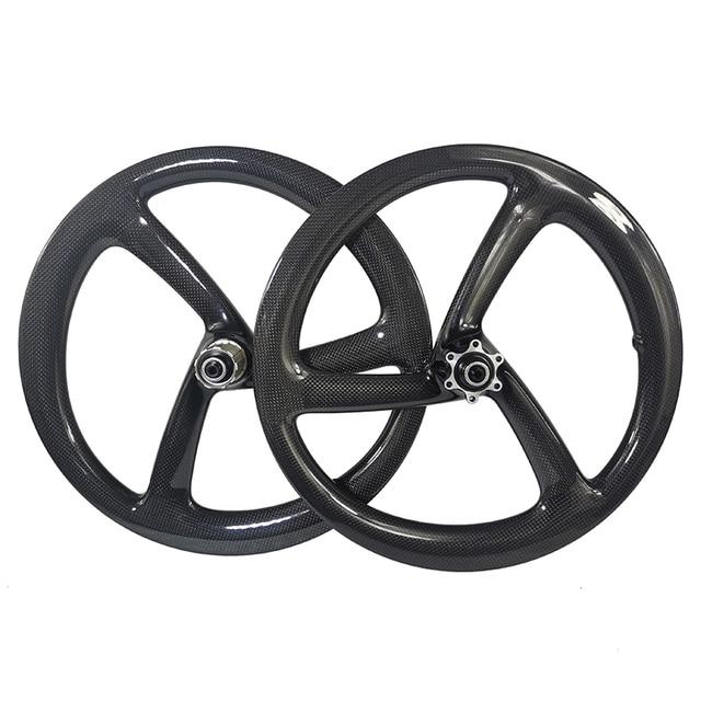 16 polegada 349 25mm de largura 1040g cl polegada er 3 raios dobrável bicicleta estrada disco de carbono rodas ud 3k 12k equilíbrio miúdo bicicleta tri falou rodas