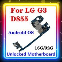 Dla LG G3 D855 100% oryginalny wymienić tablica logiczna z System Android ROM 16gb / 32gb pamięci RAM 2G/3G pełną testowane MB