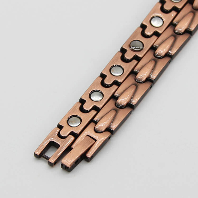 Hologram Pure Copper Magnetic Therapy Link Bracelet