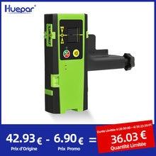 Huepar Digital LCD Laser Receiver Outdoor Mode Laser Detector Pulsing Detect Red & Green Beam Cross Line Laser Level With Clamp