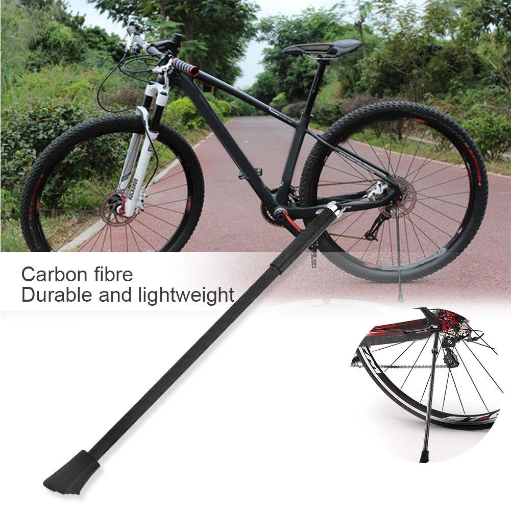 Carbon Fiber Kickstand For Mountain Bike Lightweight Bike Support Leg Foot Rack Bike Kick Parking Prop Foot carbon road frame