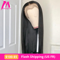 lace front human hair wigs short straight 28 30 inch brazilian natural frontal wig hd full preplucked long remy for black women