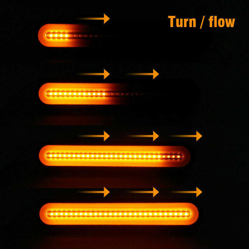 Luzes traseiras de parada de reboque, 2 peças, super brilhantes, 12-24v, lâmpada led neon, rv, reboque, parar de fluxo luz de freio de sinal traseiro