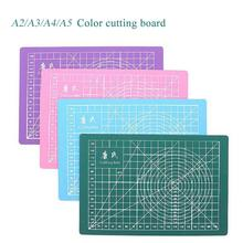 A2-A5 Self-healing Cutting Mat PVC Rectangle Grid Lines Tool Leather Craft Diy Cutting Supplies Stationary Cutting Color Mat