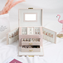 Casegrace New Jewelry Box Gift for Packaging Display Large Women Makeup Case Luxury Earring Ear Nail Storage