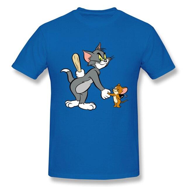 Cat Tom Mouse Jerry's Dad Eugene Merril Gene Deitch Men's Basic Short Sleeve T-Shirt 2020 cute men's t shirt European Size