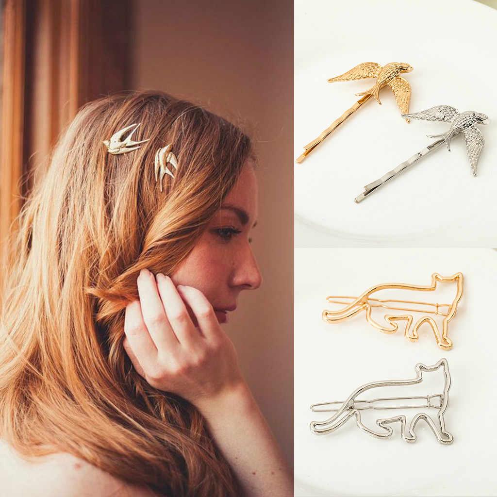 Fashion Women Girl Hair Clip Hair Slide Snap Drop Barrette Hairpin Hair Access