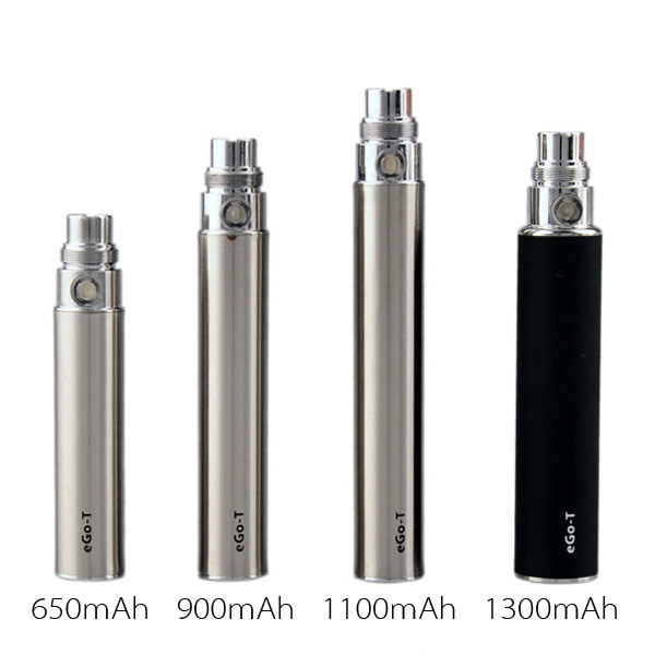 Yunkang Ego-T Battery 650mAh 900mAh 1100mAh Electronic Cigarette 510 Thread Vape Pen For CE4 CE5 Tank Evod H2 T3S MT3 Atomizer