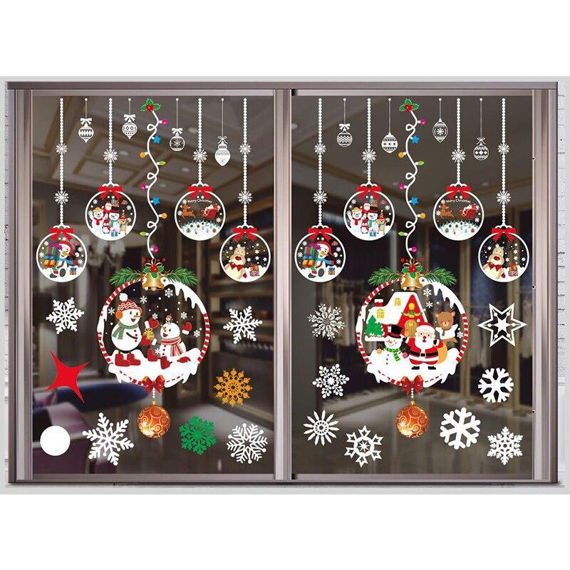 Рождественские украшения для дома настенные окна рождественские наклейки декор 2020 Рождественские украшения Рождественские подарки Новог...