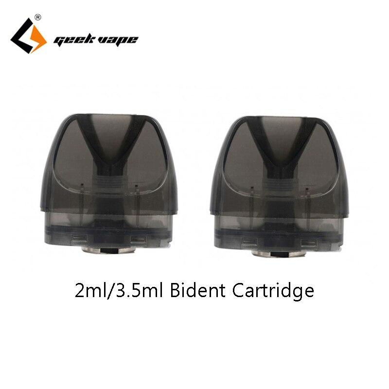 2pcs/pack GeekVape Bident Pod Cartridge With 0.8ohm/1.2ohm Coils Support DTL/MTL Vaping 3.5ml For Bident Kit