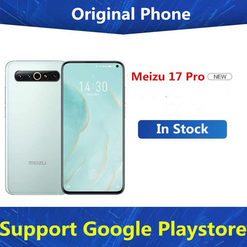 """Original Meizu 17 Pro 5G Mobile Phone Snapdragon 865 Android 10.0 6.6"""" 2340X1080 90hz 12GB RAM 256GB ROM 64.0MP Wireless Charge