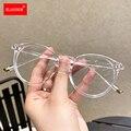 Runde Brillen Für Frauen Männer Computer Anti Blaues Licht Gläser Rahmen Transparente Optische Gefälschte Brillen Myopie Rahmen Brille