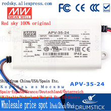 цена на Steady MEAN WELL APV-35-24 24V 1.5A meanwell APV-35 24V 36W Single Output LED Switching Power Supply
