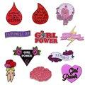 Феминистская брошь на булавке, коллекция, эпохи капли крови, позитивная Женская эмоциональность, GRL PWR значок, подарок для женщин