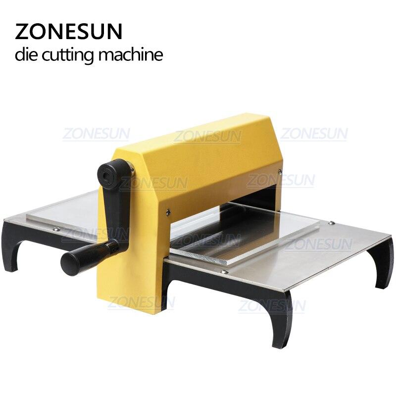Image 4 - ZONESUN Manual Leather Die Cutting Machine Handmade Earring Die Cuts Embossing Machine For Punching Clicker Die Steel Rule DiePunching   -