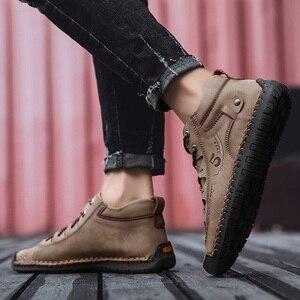 Image 5 - SKRENEDS flambant neuf confortable hommes chaussures décontractées hommes chaussures qualité en cuir chaussures plates pour homme mocassins chaussures grande taille 38 48