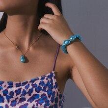 Ingemark Hawaii Simulated Pearl Choker Necklace NE+BA Statement Korean Bead Pendant Chain Bracelet Ankle Women Wedding Jewelry general tire grabber gt 265 50 r19 110y