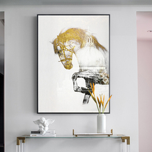 European Style Golden Horse And City Wall Art Pictures For Living Room Posters and Prints Modern Print Cuadros Decoration