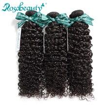 Rosa Beauty Hair Mongoolse Afro Kinky Krullend Haar Extensions 100% Menselijk Remy Haar 1 3 4 Bundels Natuurlijke Kleur Haar 10 28 Inch