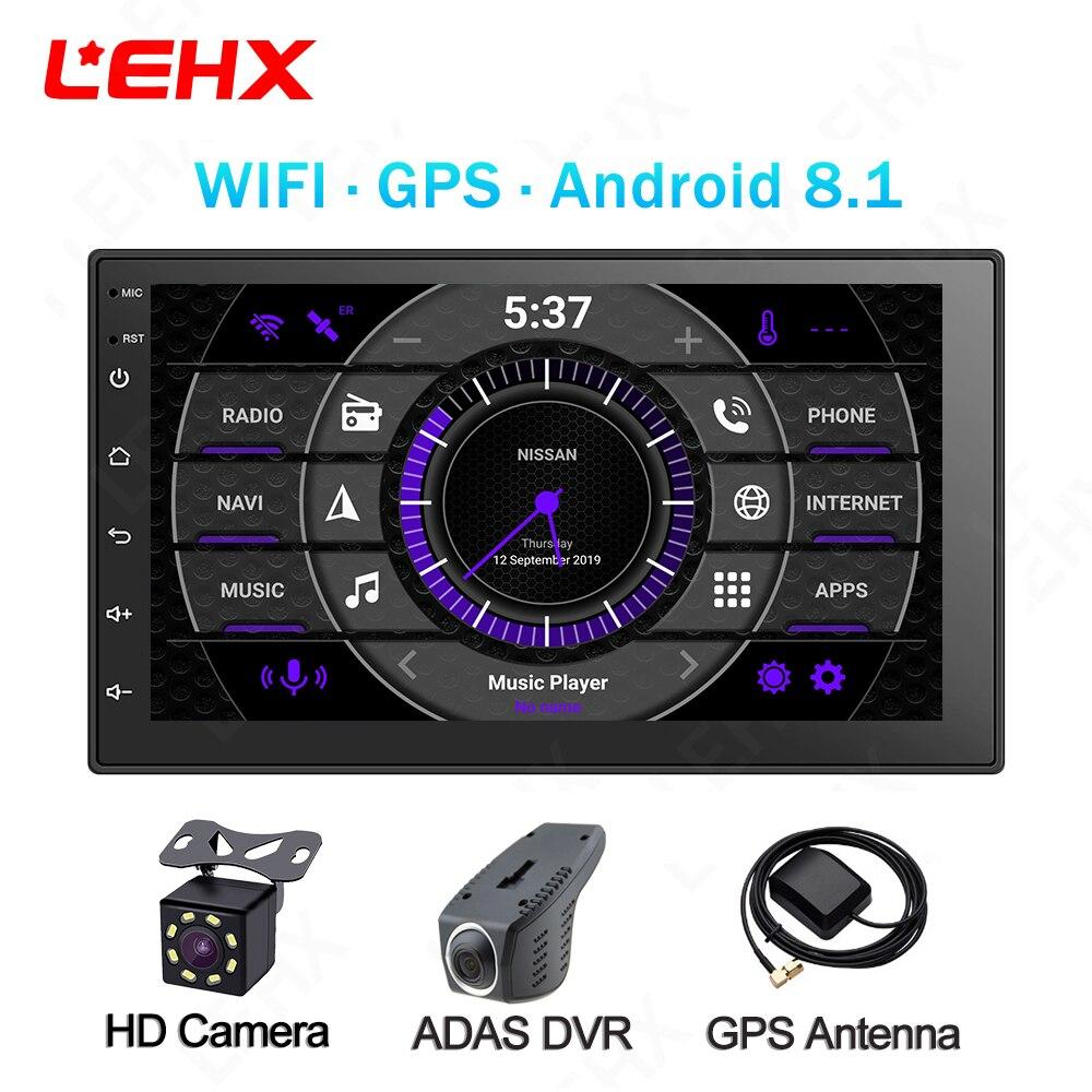 LEHX 7 polegada Android 8.1 GPS Do Rádio de Carro Din Duplo Universal Unidade Multimedia Player Para TOYOTA Nissan Kia RAV4 Honda VW Hyundai
