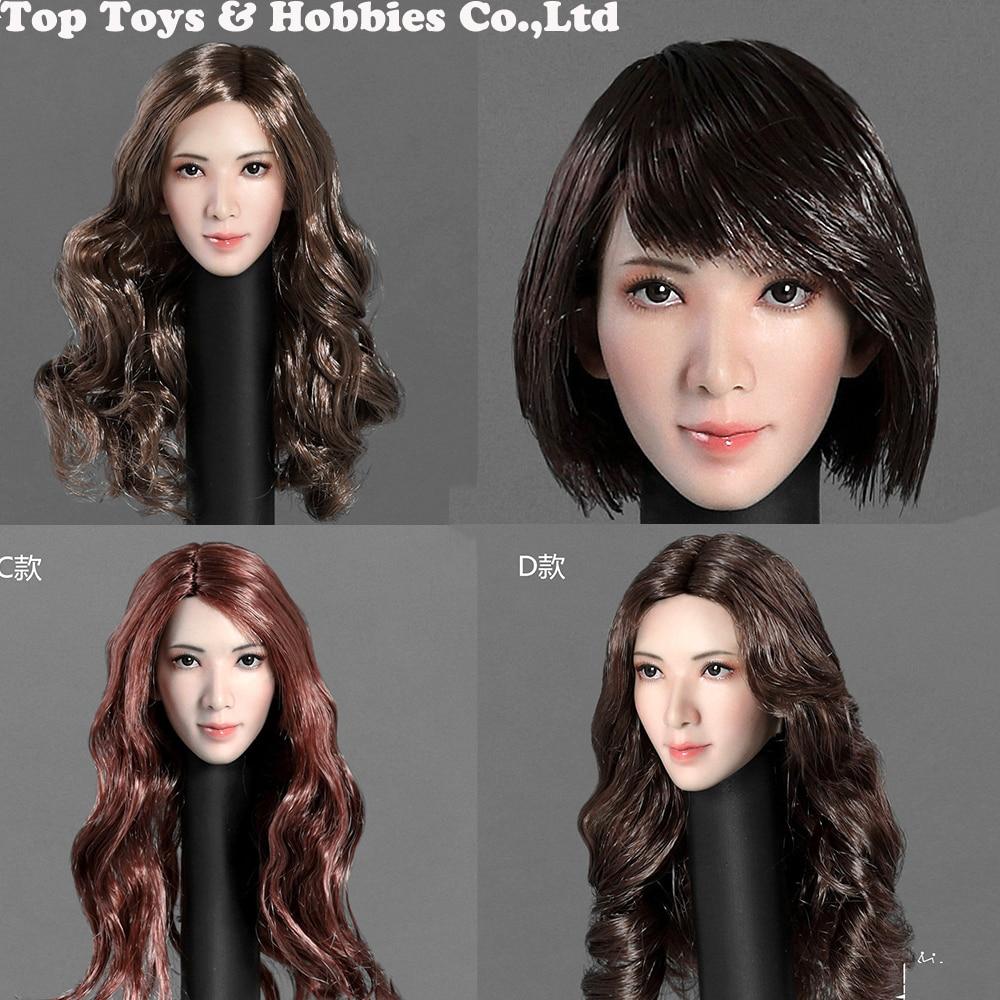 StarKingToys SK001 A 1//6 Asian Beauty Female Head Sculpt Fit For 12* Figure New