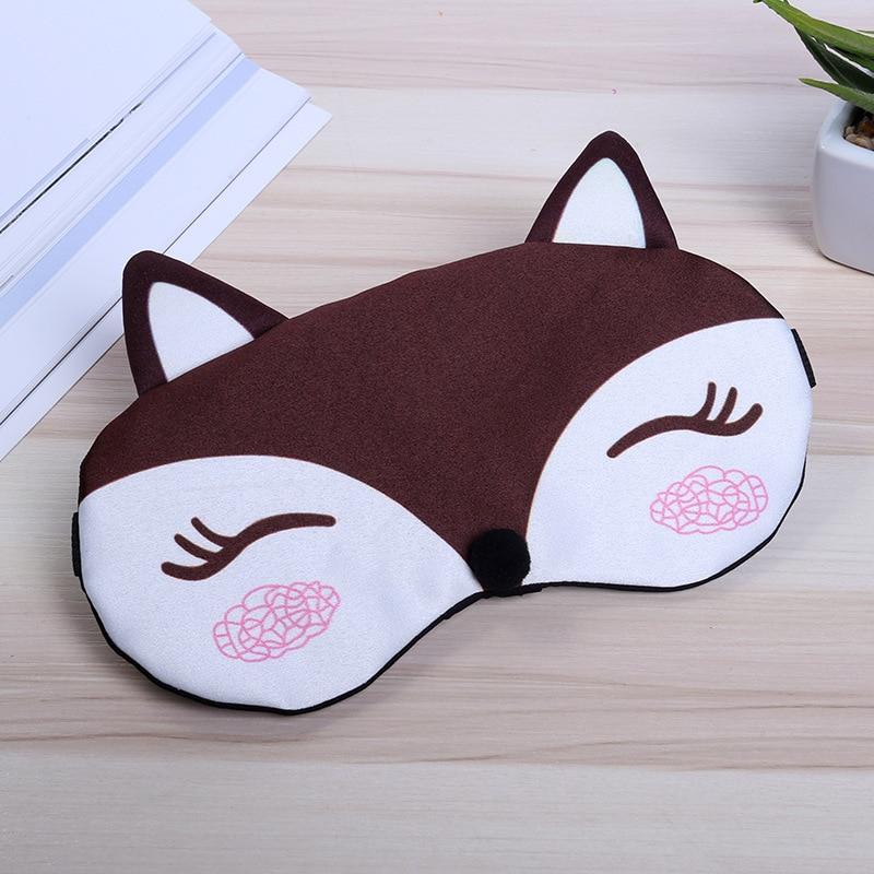 Sleep Eye Mask Eyeshade Cotton Fox Eyepatch Sleeping Mask Cute Eye Cover Travel Rest Eye Band Sleeping Aid Kids Eye Blindfolds 4