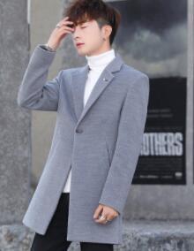 Winter's new double-faced woolen coat for men slim body for men suede overcoat for men woollen overcoat for men