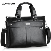 Men Briefcase Handbag-Bag Messenger-Bags Travel-Bags Computer Laptop Men's VORMOR Business