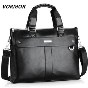 Image 1 - VORMOR 2020 Men Briefcase Business Shoulder Bag Leather Messenger Bags Computer Laptop Handbag Bag Mens Travel Bags