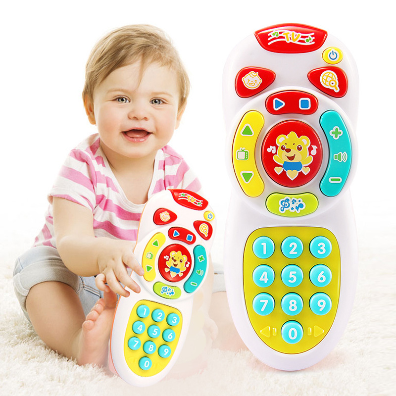Baby Simulation TV Remote Control Mobile Phone Toy Kids Educational Music Learning Toy S7JN